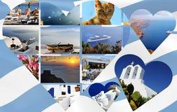 Santorini Collage Photos Stock Photo