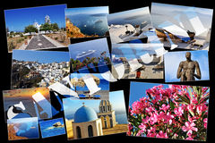 Santorini Collage Photos Royalty Free Stock Image