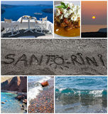 Santorini collage. Collage of symbolic images of Santorini, Greece Stock Photography