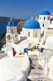 Santorini, Cyclades - island in Greece Royalty Free Stock Images