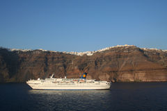 Santorini de croisière. Images libres de droits