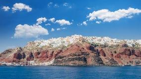 Santorini, de Eilanden van Cycladen, Griekenland Stock Foto