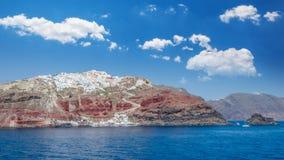 Santorini, de Eilanden van Cycladen, Griekenland Stock Foto's
