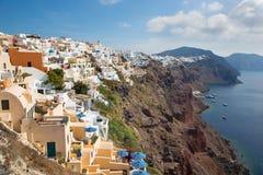 Santorini - der Blick von Oia Stockbild