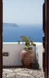Santorini details. Architectural details of Santorini. Santorini is a small, circular archipelago of volcanic islands located in the southern Aegean Sea, about Royalty Free Stock Photos