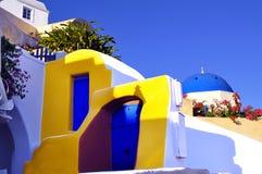 Santorini detaljer Fotografering för Bildbyråer