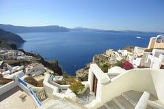 Santorini di paesaggio Fotografia Stock