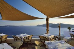 Santorini, die Kykladen, Griechenland Stockfoto