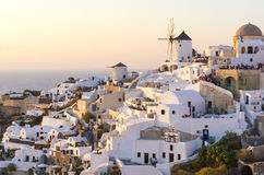 Santorini, die Kykladen, Griechenland Stockbild