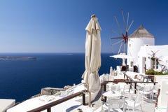 Santorini, die Kykladen, Griechenland Lizenzfreies Stockbild