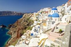 Santorini, die Kykladen, Griechenland Lizenzfreies Stockfoto