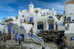 Santorini diorama arkivbilder
