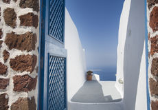 Santorini door Stock Photos