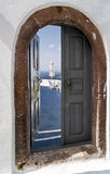 Santorini door Stock Photography