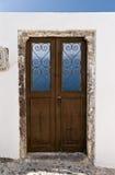 Santorini door royalty free stock images