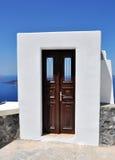 Santorini door Stock Image