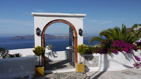 Santorini Hotel Entrance Stock Photography