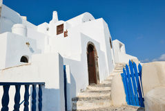 Santorini Dorf Stockfotos