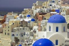 Santorini-Dorf Lizenzfreies Stockfoto