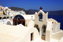 Santorini Dorfansicht lizenzfreies stockbild