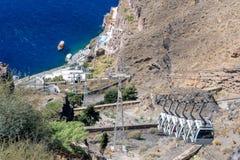 Santorini Drahtseilbahn Lizenzfreie Stockfotografie