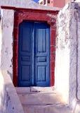 Santorini drzwi Zdjęcie Royalty Free