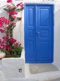 santorini drzwi Zdjęcia Royalty Free
