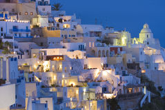 Santorini at dusk Royalty Free Stock Photography