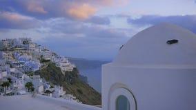 Santorini Dusk stock video