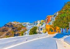 In Santorini-eiland in Griekenland Stock Afbeelding