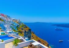 In Santorini-eiland in Griekenland Royalty-vrije Stock Fotografie