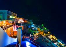 In Santorini-eiland in Griekenland stock fotografie