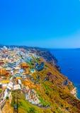 In Santorini-eiland in Griekenland Royalty-vrije Stock Afbeelding
