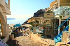 Santorini em Grécia fotografia de stock