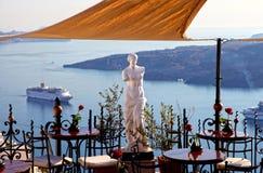 Santorini em Grécia fotos de stock