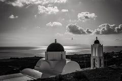 Santorini en blanco y negro Fotos de archivo