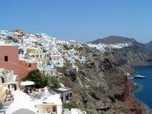 Santorini en el borde Imagen de archivo