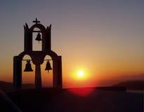 Santorini en Grecia fotos de archivo