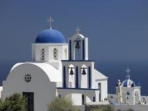 Santorini en las islas griegas Imagen de archivo