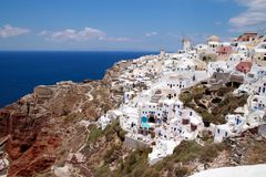 Santorini espectacular Imagens de Stock Royalty Free
