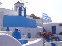 Santorini färger royaltyfri foto