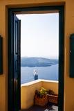 Santorini färja Royaltyfria Bilder