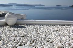 santorini för ö för byggnadsgreece kull Royaltyfri Fotografi
