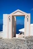 santorini för ö för byggnadsgreece kull Arkivfoto