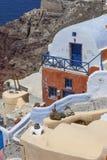 santorini för ö för byggnadsgreece kull Arkivbild