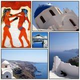 santorini för collage 02 Royaltyfri Foto