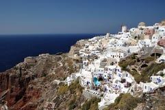 santorini för greece öliggande Arkivfoto