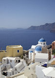 Santorini famous church Royalty Free Stock Photos