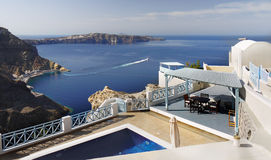 Santorini, Ferry Port Athinios Royalty Free Stock Photos
