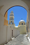 Церковь Santorini Fira Стоковое фото RF